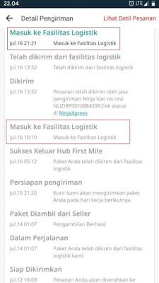 Masuk ke Fasilitas Logistik
