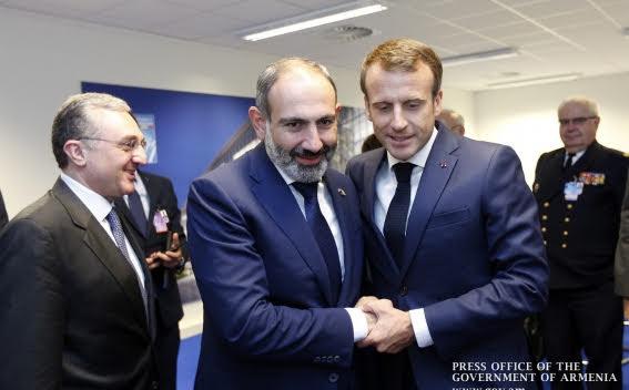 Pashinyan y Macron discuten agenda de desarrollo conjunta
