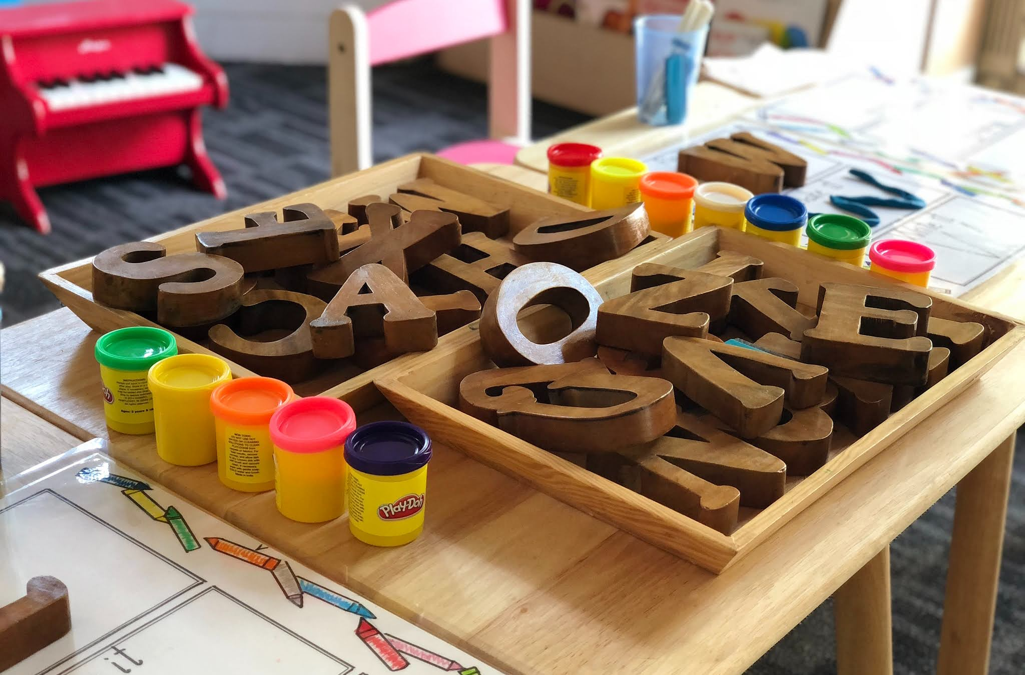 play dough and tools
