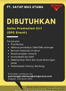 Lowongan Kerja PT Sayap Mas Utama di Bandung Agustus 2020