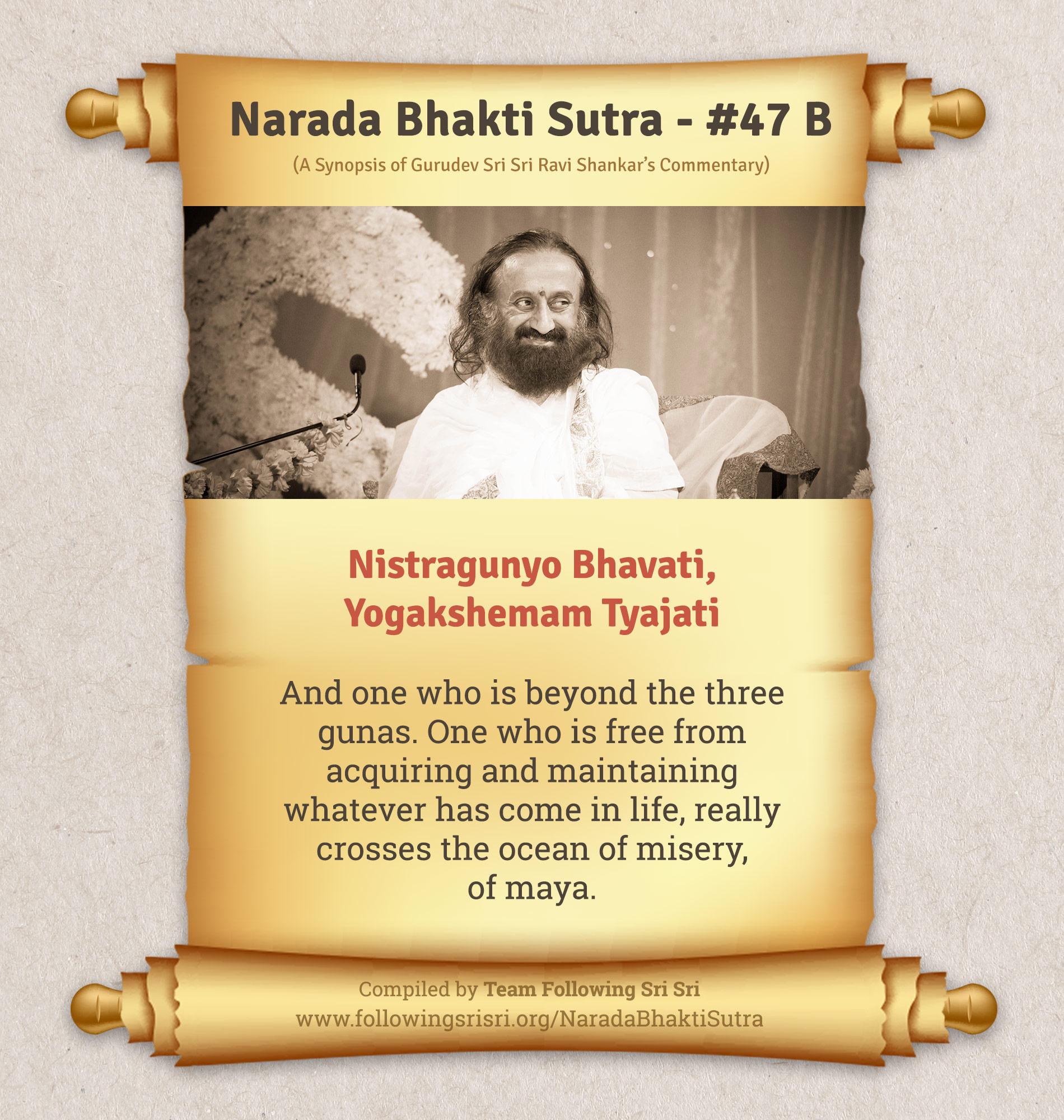 Narada Bhakti Sutras - Sutra 47 B