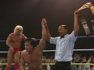 NWA Chi-Town Rumble 1989 - Ricky Steamboat wins the World Heavyweight Championship