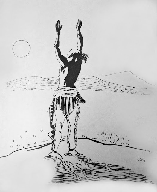 Morning Prayer pen and ink drawing by the author (1973)