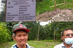 Lambok Naibaho Serahkan Lahannya Untuk Dibangun Kantor Desa Pardomuan I