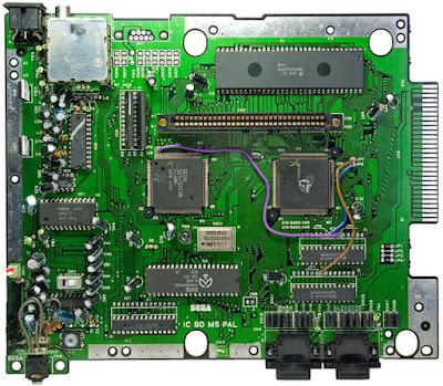 placa megadrive IC BD M5 PAL VA6