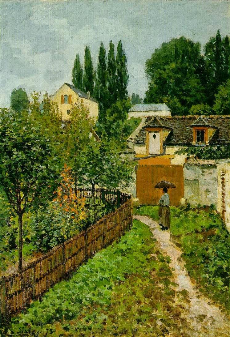 Caminho no Jardim em Louveciennes - Alfred Sisley ~ Um dos mais representativos paisagistas do impressionismo