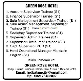 Lowongan Kerja Green Hose Hotel Batam (Januari 2021)