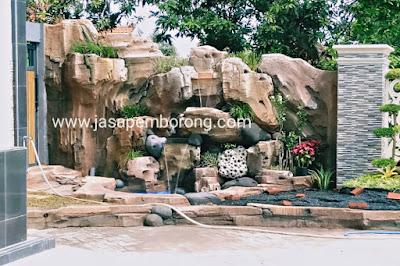 Jasa Tukang Kolam Relief Tebing Kudus | Jasa Pembuatan Dekorasi Kolam Air Terjun di Kudus