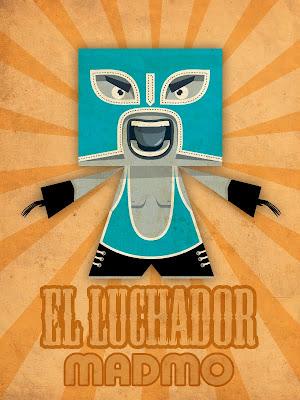 Viva! El Luchador paper toy