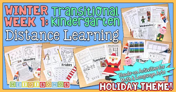 Winter WEEK 1 - TK/Kinder Distance Learning Packet!