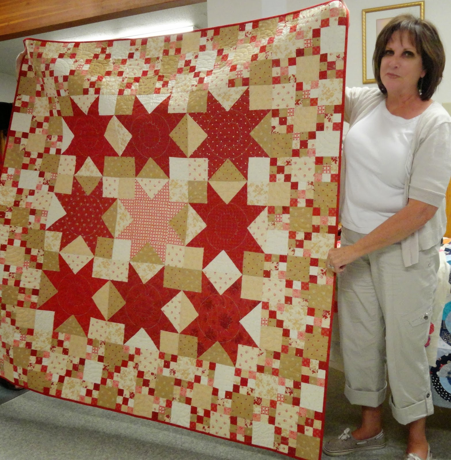 Dee Bowman Barn Quilt Made In A Class Taught By