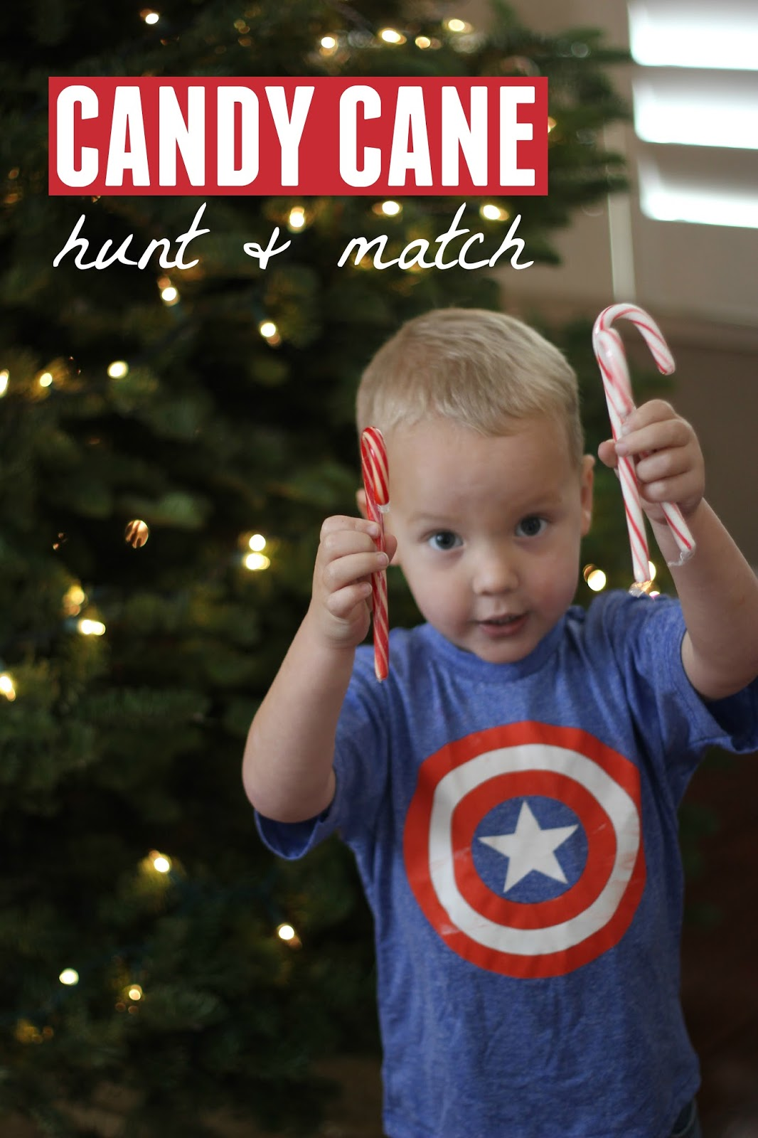 Toddler Approved Candy Cane Hunt And Match