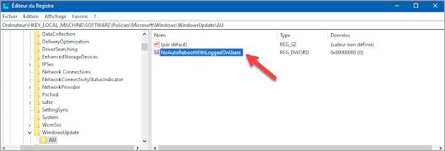 Empêcher, arrêter, désactiver, éviter, redémarrage, forcé, automatique, tout seul, mise à jour, Windows 10, administration, trucs et astuces, base du registre