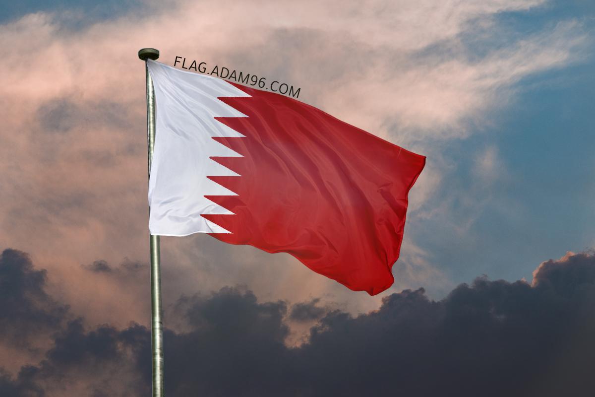 اجمل خلفية علم البحرين يرفرف في السماء خلفيات علم البحرين 2021