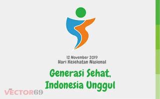 Logo Hari Kesehatan Nasional (HKN) 12 November 2019: Generasi Sehat, Indonesia Unggul - Download Vector File CDR (CorelDraw)