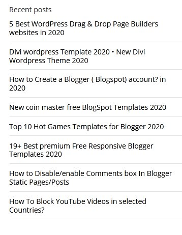 Simple WP Style Recent Post Widgets for Blogger with photo Thumbnails Style