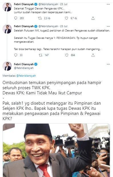 Ogah Ikut Campur Temuan Ombudsman, Dewas KPK Disebut Lupa Tugas Mereka Apa