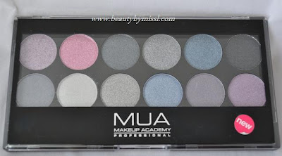 MUA Starry Night eyeshadow palette swatches and review