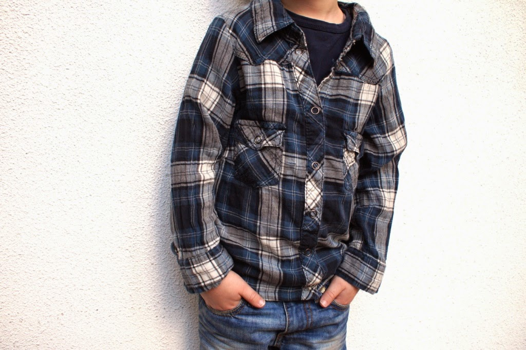 upcycled shirt - huisje boompje boefjes