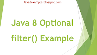 Java 8 Optional filter