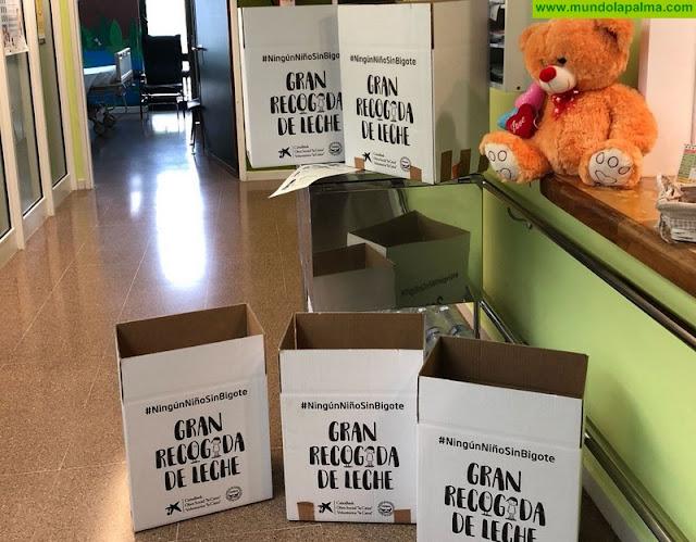El Hospital General de La Palma se suma a la campaña de recogida de leche 'Ningún niño sin bigote'