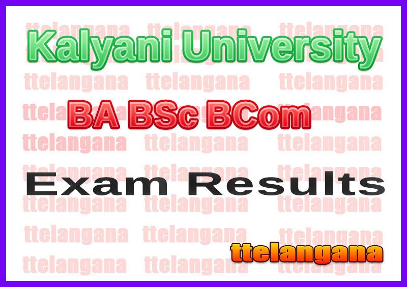 Kalyani University BA BSc BCom Result
