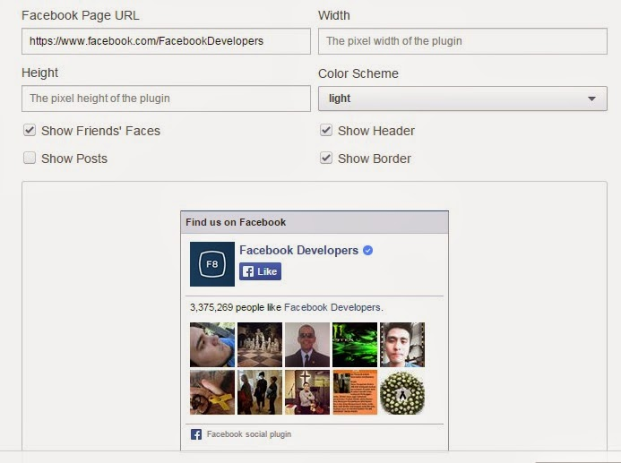 Add Facebook Like Box to Blogger