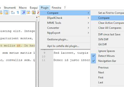 Come trovare le differenze tra due file di testo