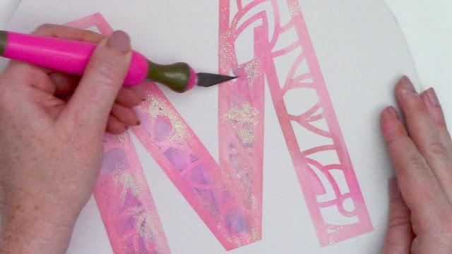 stencil, cameo 3, cameo 4 pro, mandala monogram, craft knife