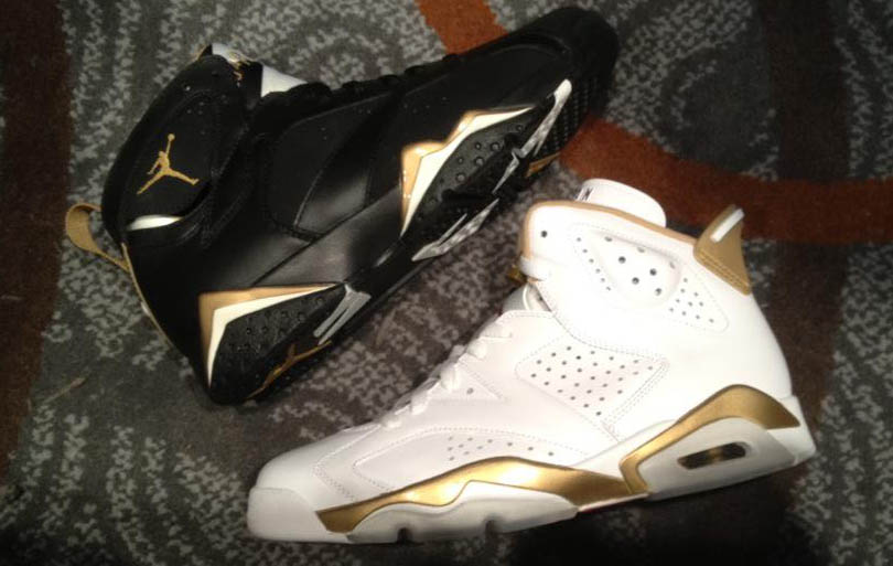 on sale 476b4 d19bf Air Jordan 6   7 - Golden Moments Package- Release Date