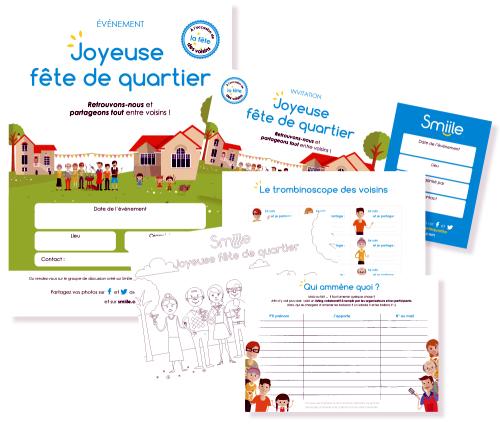 carte invitation fete des voisins à imprimer gratuite PDF Gratuits: Kit gratuit Fête des voisins 2017 (.Zip et PDF)