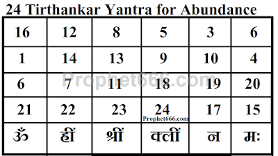 24 Tirthankar Yantra Mantra for Unbelievable Wealth and Abundance