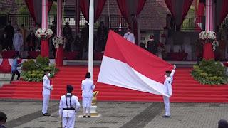 Patuh Prokes, Upacara Bendera Peringatan HUT Ke-76 RI di Sibolga Berlangsung Khidmat