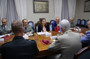 Minister Xhacka in the meeting with NATO seniors