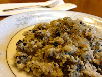 """Mushroom and Goat Cheese """"Risotto"""" - Grain Free"""
