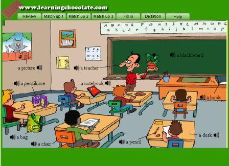 Resultado de imagen de classroom vocabulary
