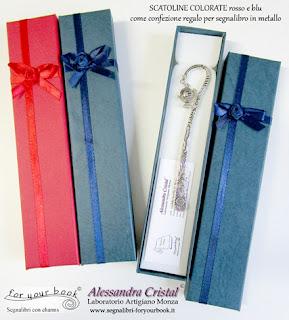 segnalibro metallo scatola regalo colorata