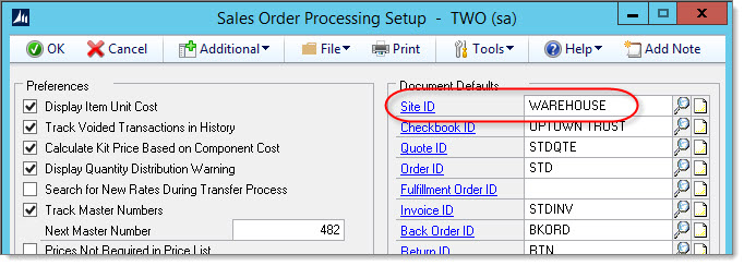 eConnect Error 110 when Updating Existing SOP Order: Item number