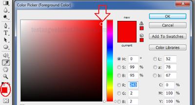 Cara membuat lingkaran merah di photoshop