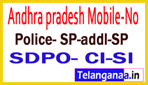 Chittoor District Police Officers Mobile Numbers AP State