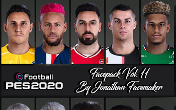 FacePack Vol.11 | PES2020 | PC | By Jonathan Facemaker