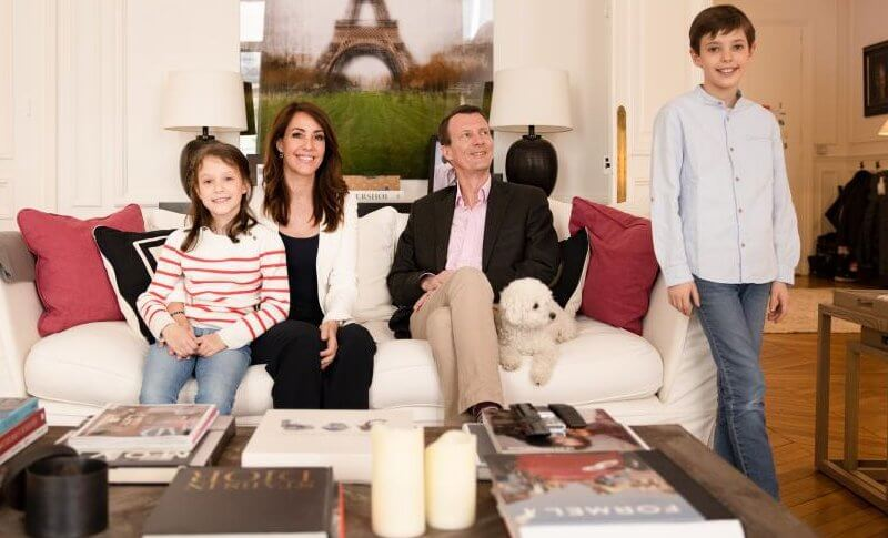 Princess Marie wore a black sweater and beige cardigan. Tod's wedges. Prince Henrik wore Adidas sneakers, Princess Athena wore Nike sneakers