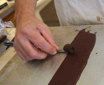 как сделать шоколадную завитушку