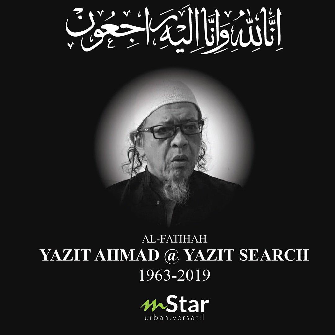 Yazit Search meninggal dunia akibat kerosakan otak