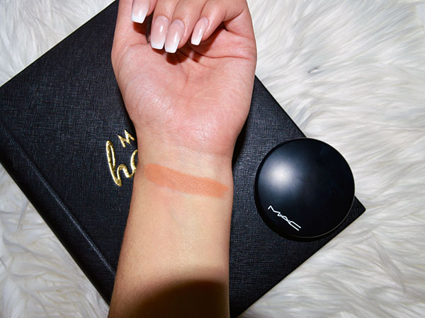 September beauty favourites swatch of mac mineralized skin finish in give me sun