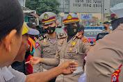 Sosialisasi Pakai Ayo Pakai Masker, Satlantas Polres Pandeglang Ajak Tertib Berlalulintas