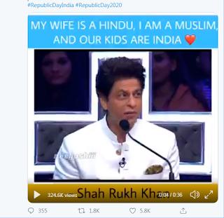 Shah Rukh Khan berbicara tentang agama