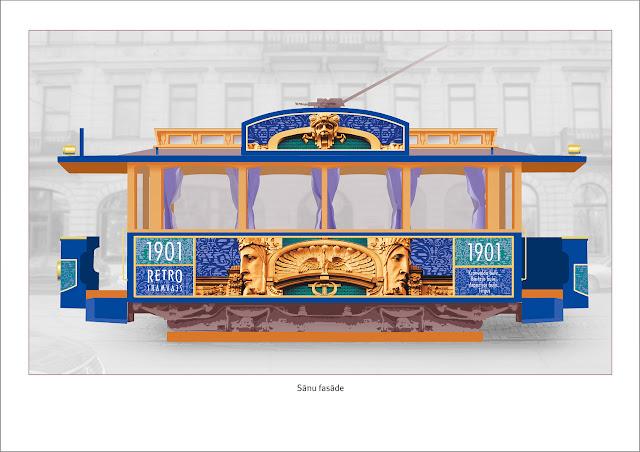 Эскиз нового вида ретро-трамвая