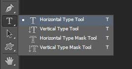 Horizontal Type tool.