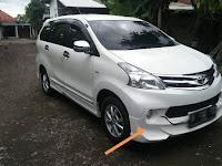 Harga Dan Fisik : Spoiler Bumper Depan Toyota Avanza Luxury (2014)
